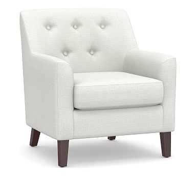 Soma Walter Upholstered Armchair, Polyester Wrapped Cushions, Basketweave Slub Ivory - Pottery Barn
