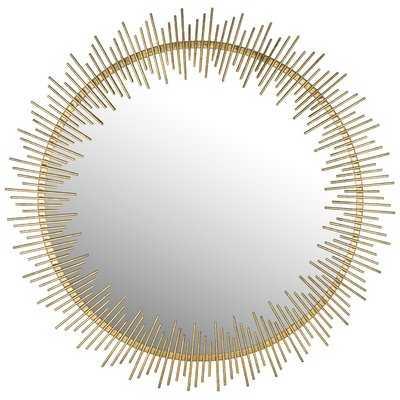 Wald Round Sunray Circle Wall Mirror - AllModern