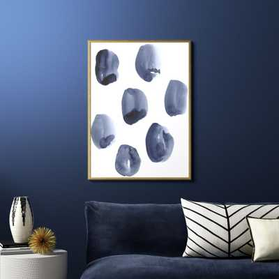 """""""Skipping Stones with Gold Frame/No Mat 29.5""""""""x40.25"""""""""""" - CB2"""