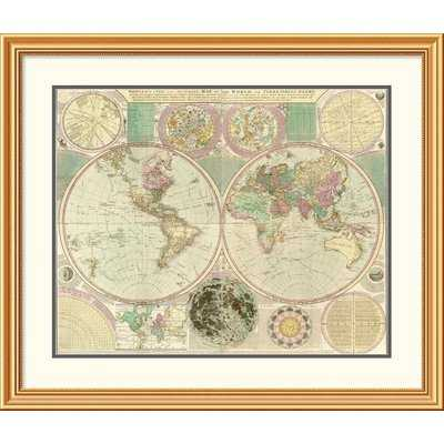 'World Map' Framed Print - Wayfair