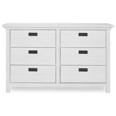 Evolur Waverly 6-Drawer Weathered White Dresser - Home Depot