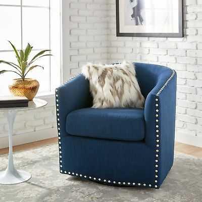 Jasper Laine Tyler Roma Navy Swivel Chair - eBay