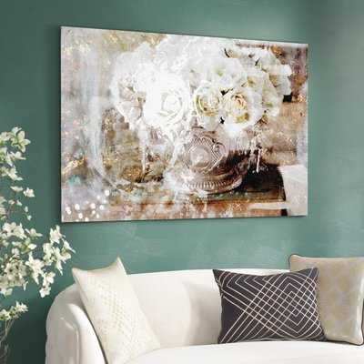 'Serving Roses Floral and Botanical Art' Wrapped Canvas Print - AllModern