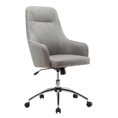 Gray Comfy Height Adjustable Rolling Office Desk Chair - Home Depot