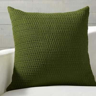 """Darby Green Hand Woven Pillow with Feather-Down Insert 23"""" - Crate and Barrel"""