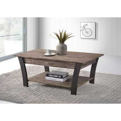 Ottomanson Zag Light Brown/Dark Gray Coffee Table with Storage - Home Depot