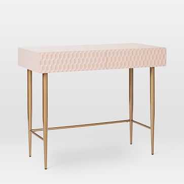 Audrey Mini Desk, Blush - West Elm