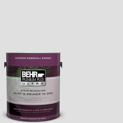 BEHR Premium Plus Ultra 1 gal. #MQ3-55 White Lie Eggshell Enamel Interior Paint and Primer in One, Whites - Home Depot