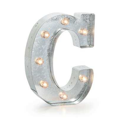 Buhl Marquee Metal Letter Blocks - Wayfair