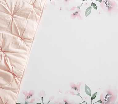 Picture Perfect Meredith Crib Fitted Sheet Set of 2, Blush - Pottery Barn Kids