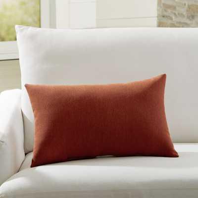 Sunbrella ® Canvas Brick Outdoor Lumbar Pillow - Crate and Barrel
