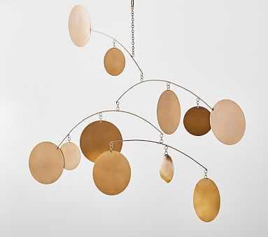 Hanging Brass Circles Mobile - Pottery Barn Kids