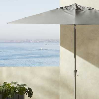 Shadow Rectangle Grey Umbrella Shade with Pole - CB2