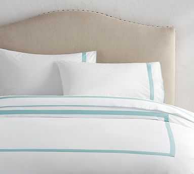 Morgan Organic Bedding Set, King, Sea Glass - Pottery Barn