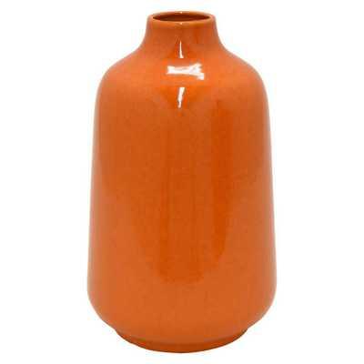 10.6 in. Orange Ceramic Decorative Vase - Home Depot