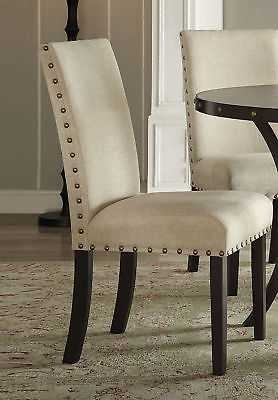 Gracie Oaks Bezu Fabric Parsons Chair Set of 2 - eBay