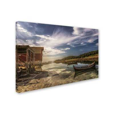 'Anchored Boats' Photographic Print on Wrapped Canvas - Wayfair