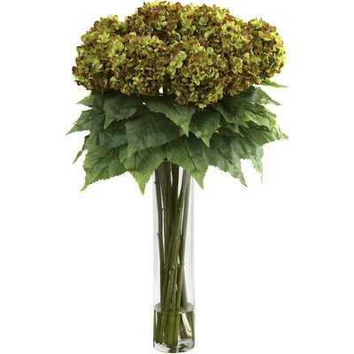 Hydrangea with Cylinder Silk Flower Arrangement - Birch Lane