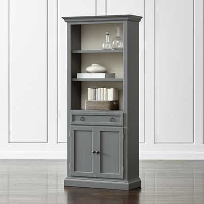 Cameo Grey Storage Bookcase - Crate and Barrel
