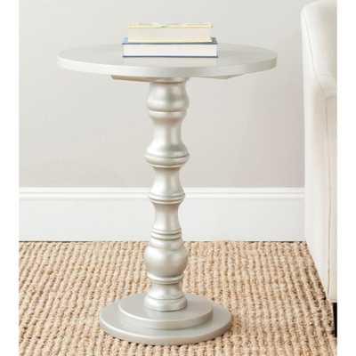Greta Silver End Table - Home Depot