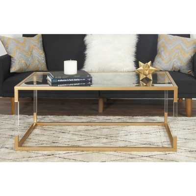 Clear and Metallic Gold Coffee Table, Gold Mettalic - Home Depot