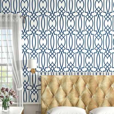 "Schroeders Lattice 27' x 27"" Geometric Wallpaper Roll - AllModern"