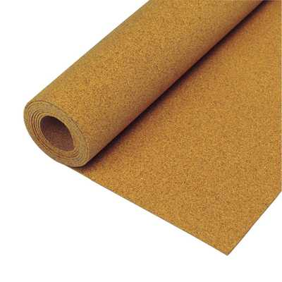 100 sq. ft. 48 in. x 25 ft. x 1/4 in. Natural Cork Underlayment Roll - Home Depot