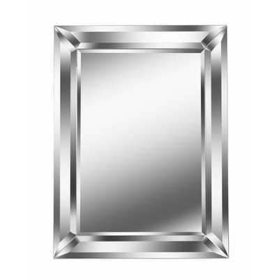 Beverly Rectangular Silver Wall Mirror - Home Depot