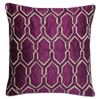 Luxury Zippered Beaded Pillow Cover - Wayfair
