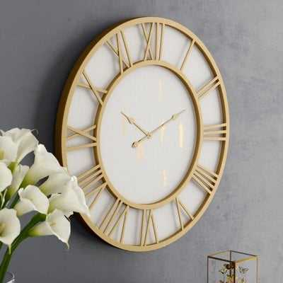 "Oversized Millbury Cottage Round Framed 36"" Wall Clock - Wayfair"