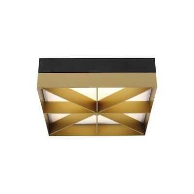 "LBL Lighting Loom 14"" Square Flush Mount, Black Gold LED930 - FM1058BLGDLED930 - eBay"