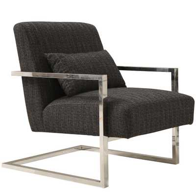 Skyline Charcoal Fabric Accent Chair - Home Depot