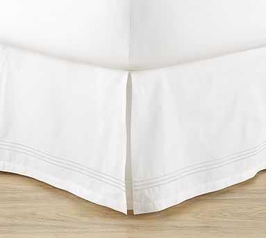 Grand Organic Bedskirt, King, White - Pottery Barn