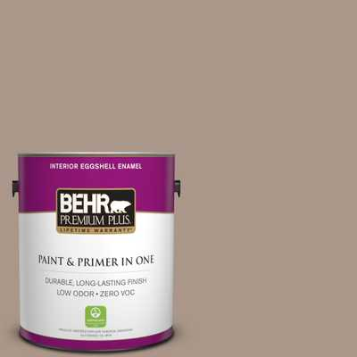 BEHR Premium Plus 1 gal. #N230-4 Chic Taupe Eggshell Enamel Zero VOC Interior Paint and Primer in One - Home Depot