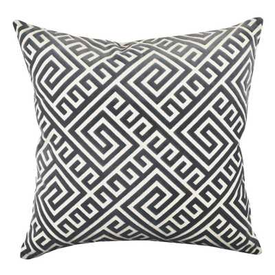 18 in. x 18 in. Geometric Grey Pillow - Home Depot
