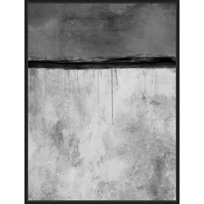 Grey Abstract Horizon Inverse Framed Painting Print - Wayfair