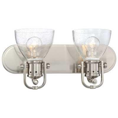 Minka Lavery 2-Light Brushed Nickel Bath Light - Home Depot