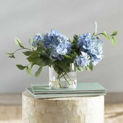 Hydrangea Floral Arrangement in Vase - Birch Lane