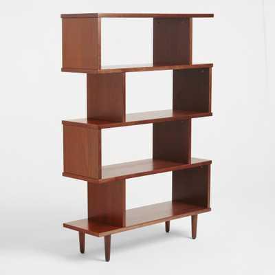 Tall Walnut Brown Wood Ashlyn Bookshelf by World Market - World Market/Cost Plus