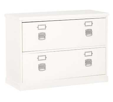 Bedford Lateral File Cabinet, Antique White - Pottery Barn