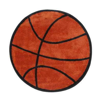 Fun Shape Basketball Area Rug - Wayfair