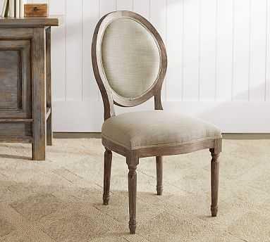 Louis Desk Chair, Gray Wash - Pottery Barn