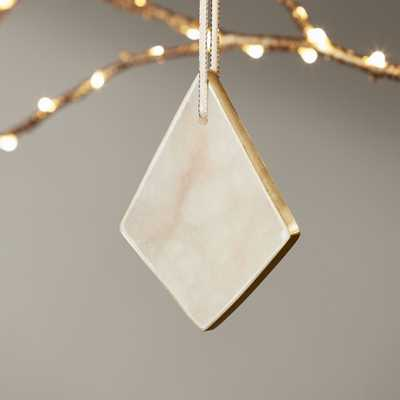 Diamond Alabaster Ornament - CB2