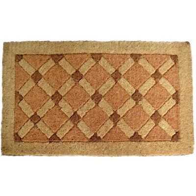 Cross Board Coir Door Mat - eBay