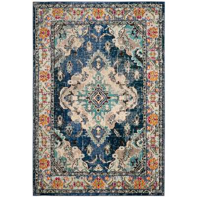 "Monaco Navy/Light Blue (Blue/Light Blue) 6'7"" x 9'3"". Area Rug - Home Depot"