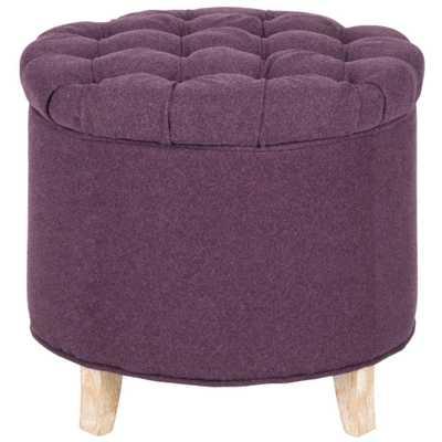 Amelia Plum (Purple) Storage Ottoman - Home Depot