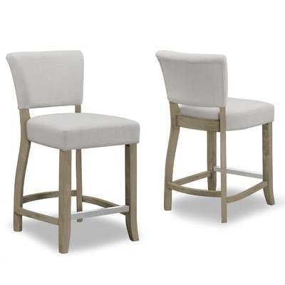 "Gaetano 22"" Bar Stool (Set of 2) - Wayfair"