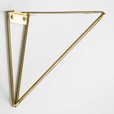 Geometric Gold Wire Mix & Match Shelf Brackets Set of 2 by World Market - World Market/Cost Plus