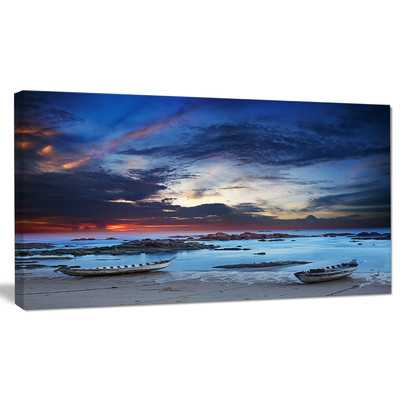 'Colorful Traditional Asian Boats' Photographic Print on Wrapped Canvas - Wayfair