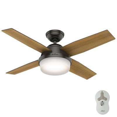 Hunter Dempsey 44 in. LED Noble Bronze Ceiling Fan with Universal Remote - Home Depot